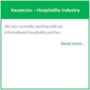Vacancies – Hospitality Industry